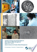 Institute Of Energy And Climate Research IEK 6  Nuclear Waste Management Report 2011   2012
