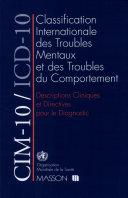 Classification internationale des maladies, dixième révision