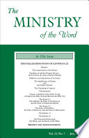 The Ministry Of The Word Vol 22 No 7