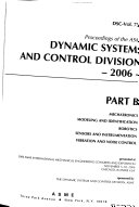Proceedings Of The Asme Dynamic Systems And Control Division Book PDF