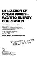 Utilization of Ocean Waves  wave to Energy Conversion  Proceedings of the International Symposium