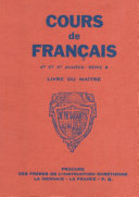 """Cours de fran�ais - 4e et 5e annŽes - Livre du Ma""""tre"""