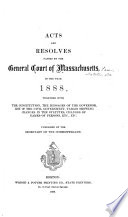 Acts and Resolves Passed by the General Court Book
