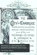Exercises in Celebrating the Two Hundred and Fiftieth Anniversary of the Settlement of Cambridge  Held December 28  1880