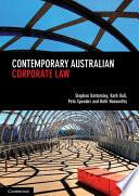 Cover of Contemporary Australian Corporate Law