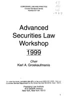 Advanced Securities Law Workshop