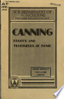 Canning Fruits and Vegetables at Home Book PDF