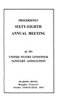 Proceedings Annual Meeting Of The United States Live Stock Sanitary Association Book PDF