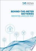 Innovation Landscape brief: Behind-the-meter batteries