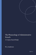 The Phraseology of Administrative French