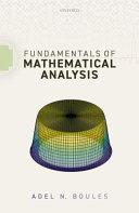 Fundamentals of Mathematical Analysis Book