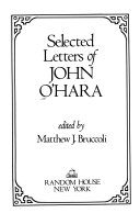 Selected Letters of John O Hara