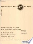 Metallization Systems for Integrated Circuits