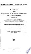Department of Commerce Appropriation Bill  1925