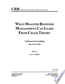 What Disaster Response Management Can Learn from Chaos Theory