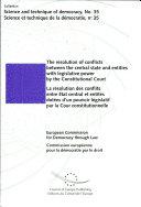 Pdf Résolution Des Conflits Entre État Central Et Entités Dotées D'un Pouvoir Législatif Par la Cour Constitutionnelle Telecharger