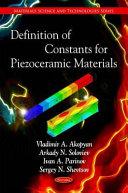 Definition of Constants for Piezoceramic Materials