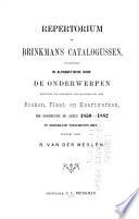 Repertorium op Brinkman's Catalogus