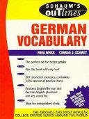 Schaum s Outline of German Vocabulary