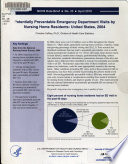 Potentially Preventable Emergency Department Visits by Nursing Home Residents
