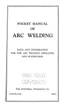 Pocket Manual of Arc Welding Book
