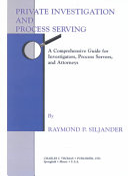 Private Investigation And Process Serving Book PDF