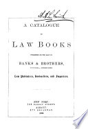 A Catalogue Of Law Books