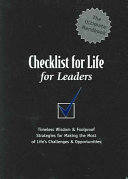 Checklist for Life for Leaders