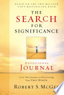 The Search for Significance Devotional Journal Book