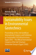 Sustainability Issues in Environmental Geotechnics: Proceedings of the 2nd GeoMEast International Congress and Exhibition on Sustainable Civil Infrastructures, Egypt 2018 -- The Official International Congress of the Soil-Structure Interaction Group in Egypt (SSIGE)