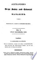 Alexander S East India And Colonial Magazine