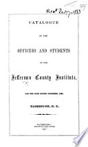 Catalogue of the Officers and Students of the Jefferson County Institute