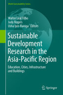 Sustainable Development Research in the Asia Pacific Region