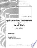 Allyn and Bacon Quick Guide to the Internet for Social Work