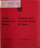 Canada Supreme Court Reports