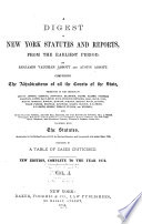 A Digest of New York Statutes and Reports Pdf/ePub eBook