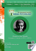 The International Journal Of Indian Psychology Volume 3 Issue 4 No 63
