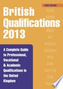 British Qualifications 2013