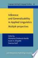 Inference and Generalizability in Applied Linguistics
