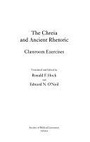 The Chreia in Ancient Rhetoric  Classroom exercises