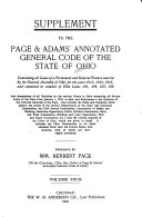 The Annotated General Code of the State of Ohio of 1910