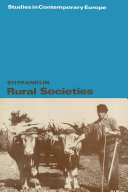 Pdf Rural Societies Telecharger