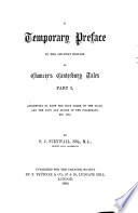 A Temporary Preface to the Six text Edition of Chaucer s Canterbury Tales Book