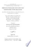 French & English XVIII Century Furniture & Decorations