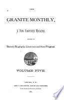 Granite State Monthly Book
