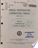 Omega Propagation Correction Tables for 10.2 KHz