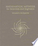 """Mathematical Methods for Scientists and Engineers"" by Donald Allan McQuarrie"