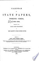 Calendar Of State Papers Domestic Series0