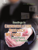 Readings in Communication Research Methods