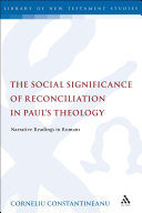 The Social Significance of Reconciliation in Paul's Theology